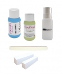 Refill kit for liquids, files, block, dispenser