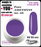 żel kolorowy UV color Gel 10 ml TND - 06 - pure amethyst