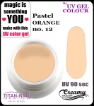 żel kolorowy UV color Gel 5 ml TND - 12- pastel orange