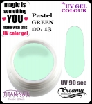 żel kolorowy UV color Gel 10 ml TND - 13 - pure pastel green