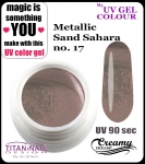 żel kolorowy UV color Gel 5 ml TND - 17 - metallic sand sahara