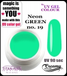 żel kolorowy UV color Gel 5 ml TND - 19 - pure neon green