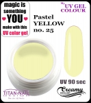 żel kolorowy UV color Gel 10 ml TND - 25 - pure pastel yellow