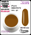 żel kolorowy UV color Gel 5 ml TND - 41 - pure brown