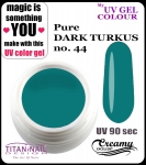 żel kolorowy UV color Gel 10 ml TND - 44 - pure dark turkus