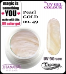 żel kolorowy UV color Gel 5 ml TND - 49 - pearl gold