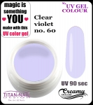 UV color Gel 5 ml TND - 60 - pure clear violet