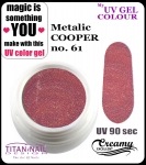 UV color Gel 5 ml TND - 61 - metallic cooper