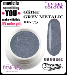 UV color Gel 5 ml TND - 75 - glitter grey metallic