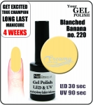 hybrydowy lakier - GEL Polish 8ml - soak off - Blanched Banana (no. 220)