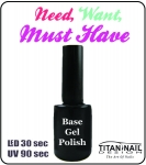 Baza hybrydowa - Gel Polish 8 ml Base - LED & UV