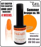 GEL Polish 8ml - soak off - Summer orange (no. 96)