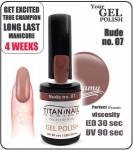 GEL Polish 15ml - soak off - rude/nude (no. 07)