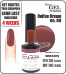 Gel Polish - Soak Off - coffee cream 8ml (no. 9)