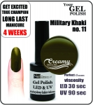 Żel Hybrydowy - Gel Polish - Soak Off - military khaki 8ml (no. 11)