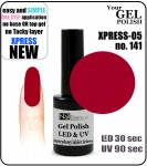 Żel Hybrydowy - GEL Polish 15ml - soak off -  XPRESS-05 RED (no. 141)