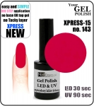 Żel Hybrydowy - GEL Polish 15ml - soak off - XPRESS-15 RASPBERRY (no. 143)