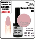 hybrydowy lakier - GEL Polish 8ml - soak off - Dynamic Rose (no. 148)