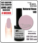 hybrydowy lakier - GEL Polish 8ml - soak off - Natural Rose (no. 149)