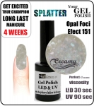 hybrydowy lakier - GEL Polish 8ml - soak off - Opal Foci Efect (no. 151)