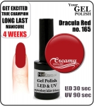 hybrydowy lakier - GEL Polish 8ml - soak off - Dracula Red (no. 165)