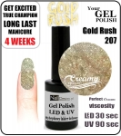 Hybrydowy lakier - GEL Polish 8ml - soak off - Gold Rush (no. 207)