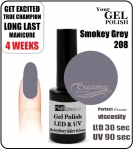 hybrydowy lakier - GEL Polish 8ml - soak off - Smokey Grey (no. 208)