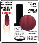 GEL Polish 15ml - soak off - Amber (no. 285)