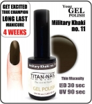 Gel Polish - Soak Off - military khaki 8ml (no. 11)