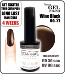 GEL Polish 8ml - soak off - wine black (no. 21)