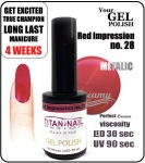 GEL Polish 15ml - soak off - impresja czerwieni (no. 28)