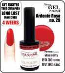 GEL Polish 8ml - soak off - ardente rosa (no. 29)