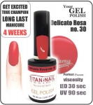 GEL Polish 8ml - soak off - delicato rossa (no. 30)