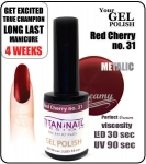 GEL Polish 8ml - soak off - red cherry 15ml (no. 31)