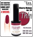 GEL Polish 15ml - soak off - cherry mahon (no. 34)