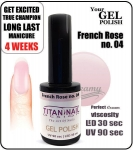 GEL Polish 8ml - soak off - french rose (no. 04)