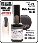 Hybrydowy lakier - GEL Polish 8ml - soak off - viola bronzo (no. 43)