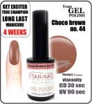 Gel Polish - Soak Off - choco brown 8ml (no. 44)