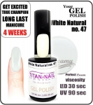 GEL Polish 15ml - soak off - White pistacja (no. 47)