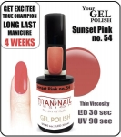 Żel Hybrydowy - GEL Polish 8ml - soak off - Sunset Pink 15ml (no. 54)