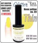 Hybrydowy lakier - GEL Polish 15ml - soak off - neon yellow (no. 59)