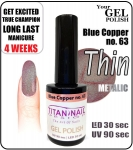 GEL Polish 8ml - soak off - metalic blue copper (no. 63)