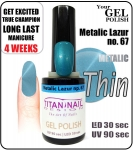 GEL Polish 15ml - soak off - metalic lazur (no. 67)
