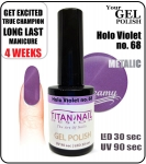 Żel Hybrydowy - GEL Polish 8ml - soak off - holo violet (no. 68) new year