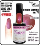 GEL Polish 15ml - soak off - metalic starfish (no. 71)
