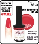 hybrydowy lakier - GEL Polish 8ml - soak off - wild strawberry (no. 76)