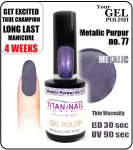 Żel Hybrydowy - GEL Polish 8ml - soak off - metalic purpur (no. 77)