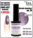 Hybrydowy lakier - GEL Polish 8ml - soak off - metalic ametyst (no. 78) autumn