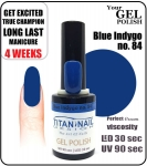 hybrydowy lakier - GEL Polish 8ml - soak off - blue indygo (no. 84)