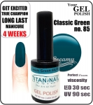 Żel Hybrydowy - GEL Polish 15ml - soak off - classico verde (no. 85)